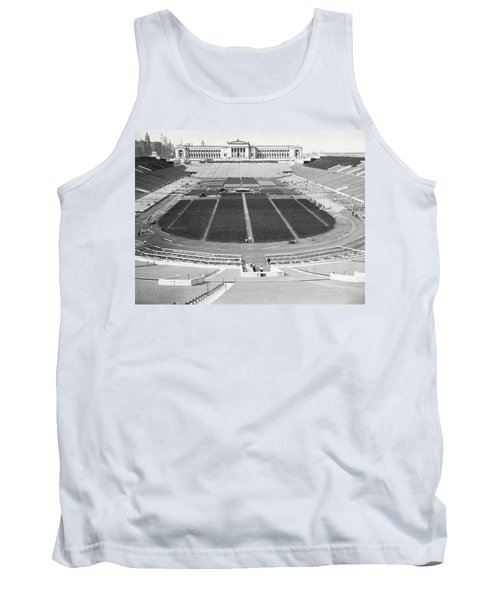 Soldier's Field Boxing Match Tank Top by Underwood Archives