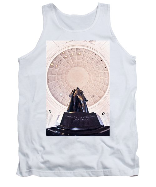 Statue Of Thomas Jefferson Tank Top by Panoramic Images