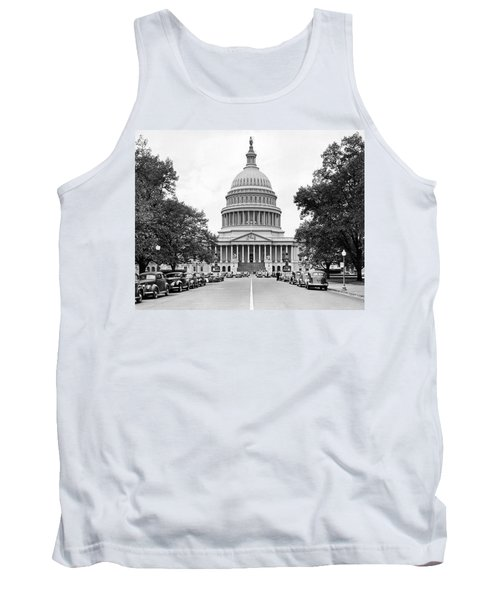 The Capitol Building Tank Top by Underwood Archives