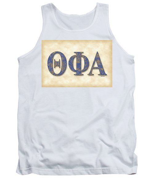 Theta Phi Alpha - Parchment Tank Top by Stephen Younts
