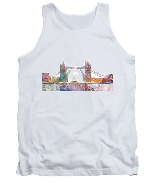 Tower Bridge Colorsplash Tank Top by Aimee Stewart