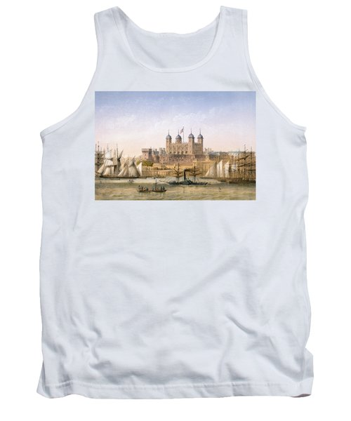 Tower Of London, 1862 Tank Top by Achille-Louis Martinet