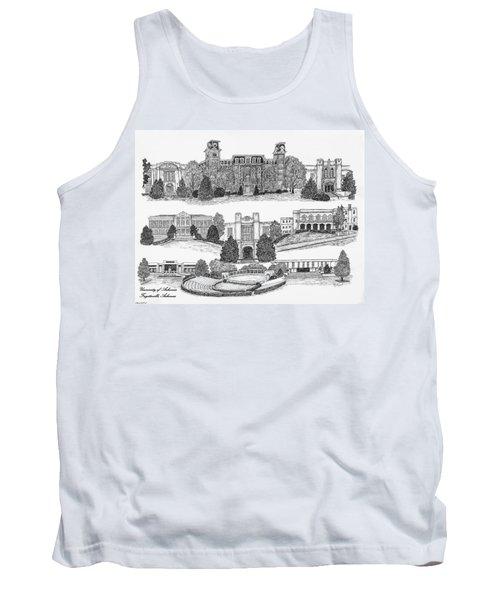 University Of Arkansas Fayetteville Tank Top by Liz  Bryant