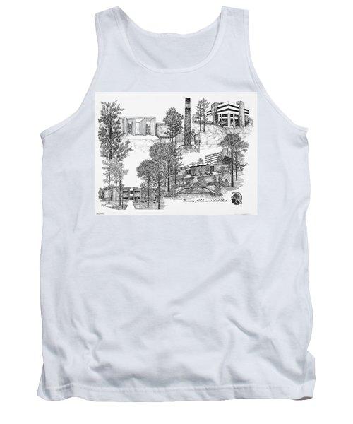 University Of Arkansas Tank Top by Liz  Bryant