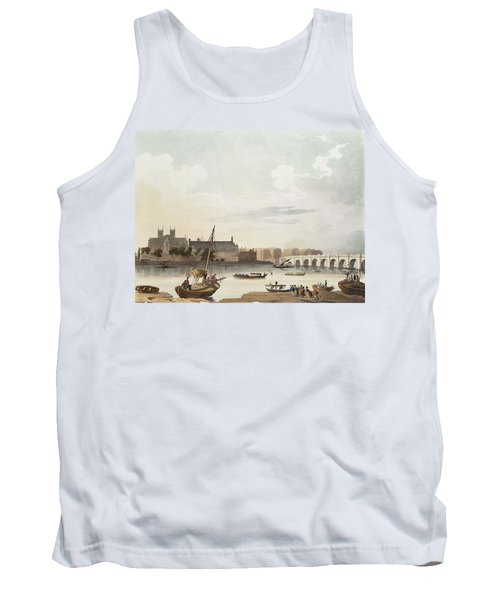 View Of Westminster And The Bridge Wc On Paper Tank Top by English School