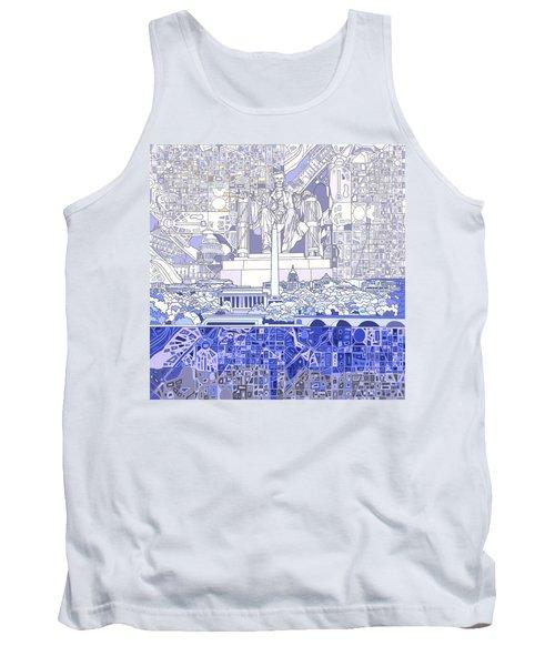 Washington Dc Skyline Abstract 3 Tank Top by Bekim Art