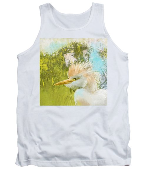 White Kingfisher Tank Top by Catf