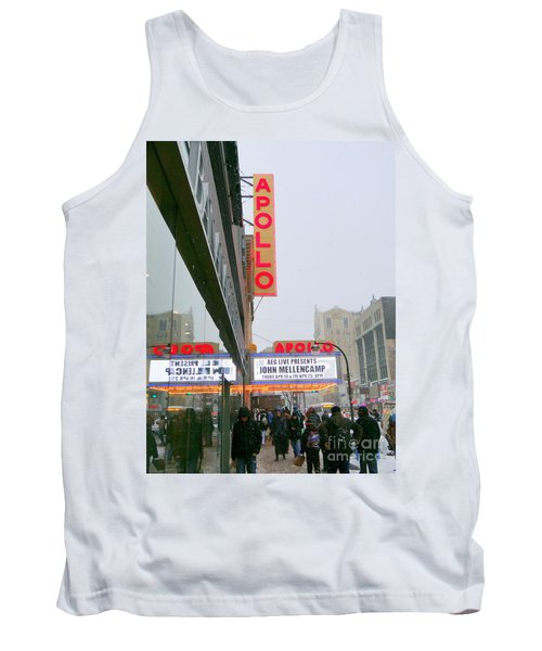 Wintry Day At The Apollo Tank Top by Ed Weidman