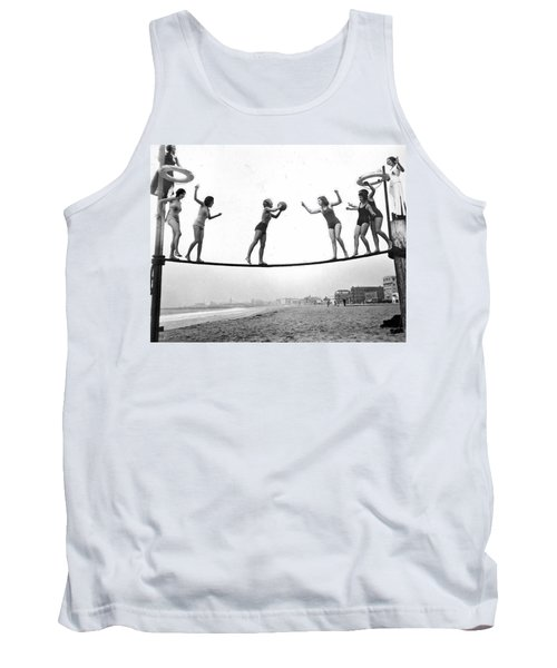 Women Play Beach Basketball Tank Top by Underwood Archives