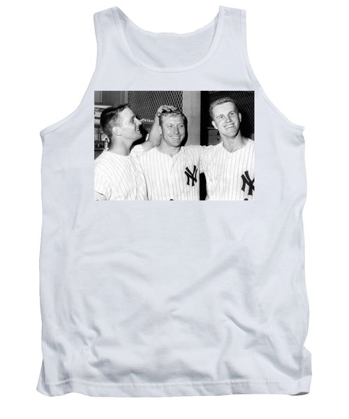 Yankees Celebrate Victory Tank Top by Underwood Archives