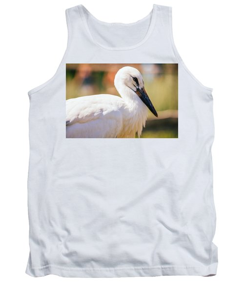 Young Stork Portrait Tank Top by Pati Photography