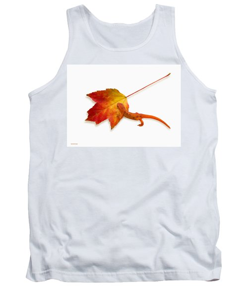 Red Spotted Newt Tank Top by Ron Jones
