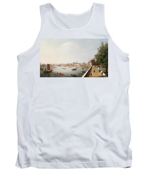 View Of The River Thames From The Adelphi Terrace  Tank Top by William James