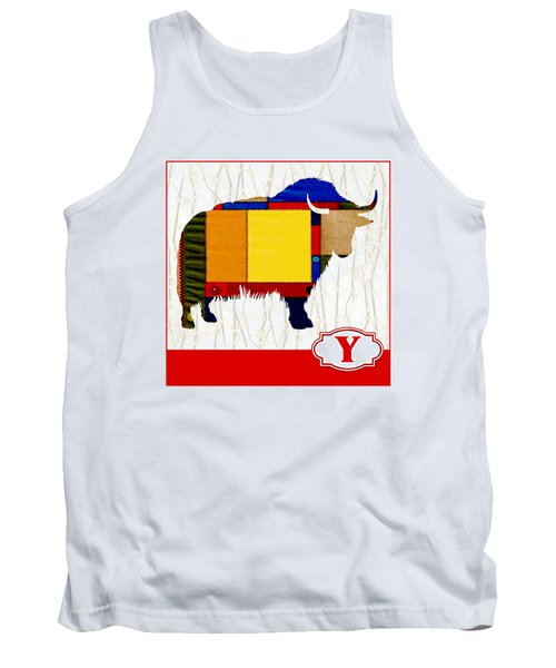 Y Is For Yak Tank Top by Elaine Plesser