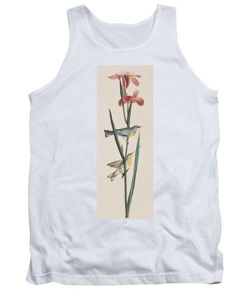 Blue Yellow-backed Warbler Tank Top by John James Audubon