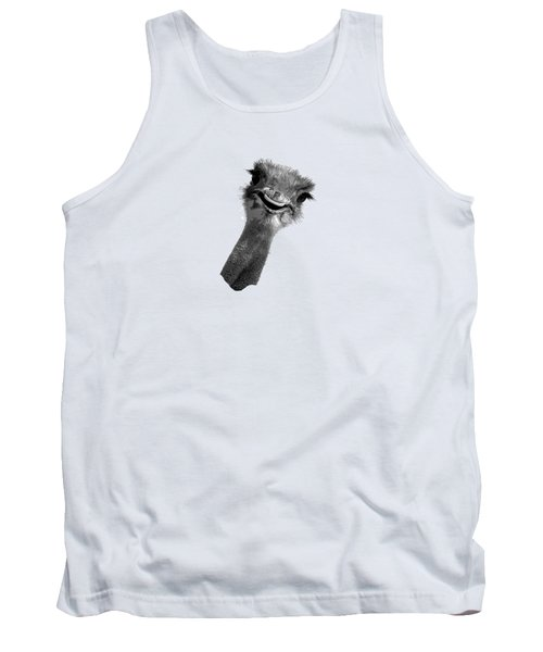Happy Ostrich Tank Top by Jan Carr