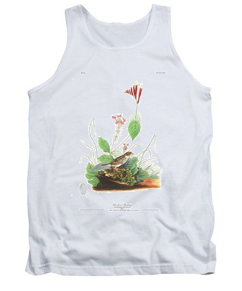 Henslow's Bunting  Tank Top by John James Audubon