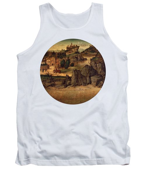 Landscape With Castles Tank Top by Bartolomeo Montagna