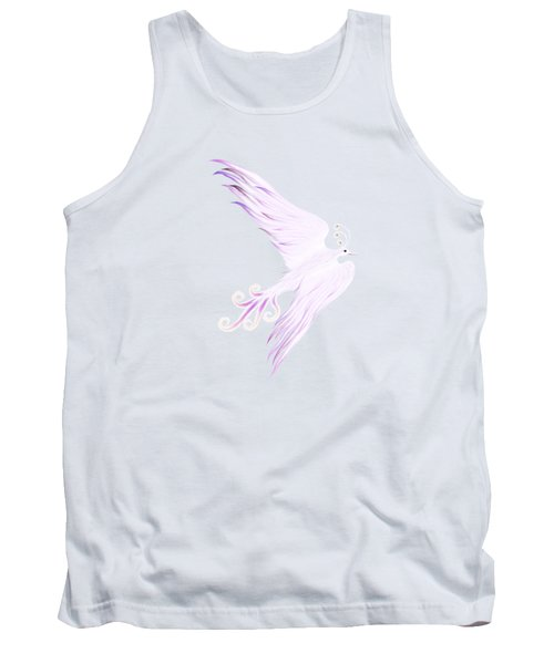 Magical Phoenix Bird Artistic Design Tank Top by Awen Fine Art Prints