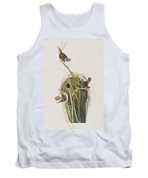 Marsh Wren  Tank Top by John James Audubon