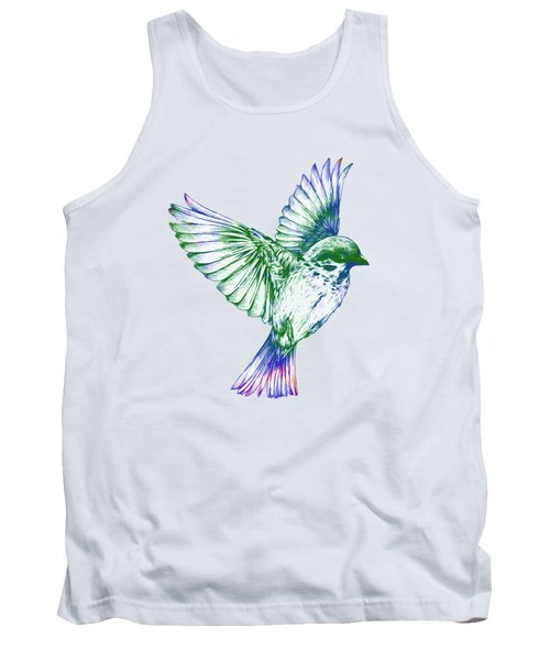 Textured Bird With Changeable Background Color Tank Top by Sebastien Coell