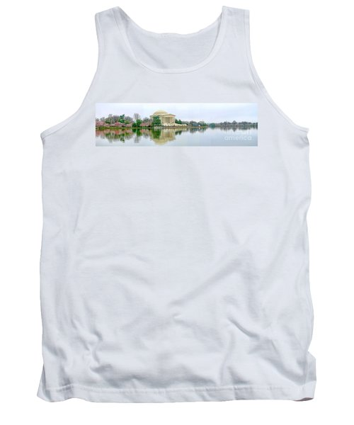 Tidal Basin With Cherry Blossoms Tank Top by Jack Schultz
