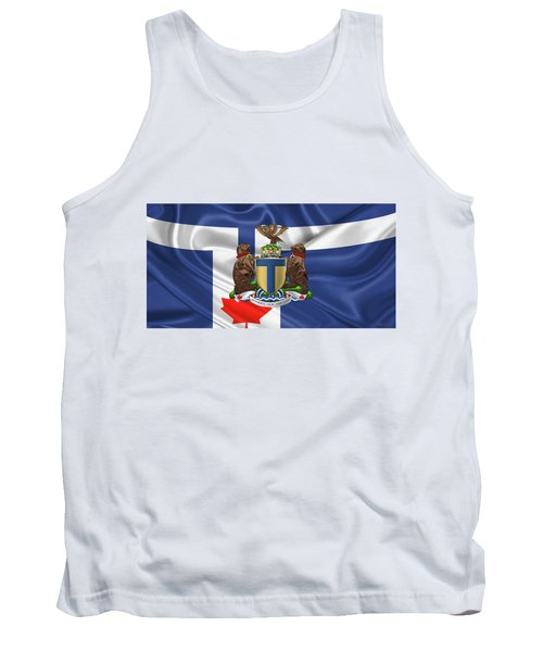 Toronto - Coat Of Arms Over City Of Toronto Flag  Tank Top by Serge Averbukh