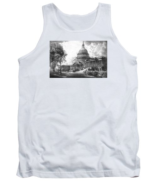 United States Capitol Building Tank Top by War Is Hell Store