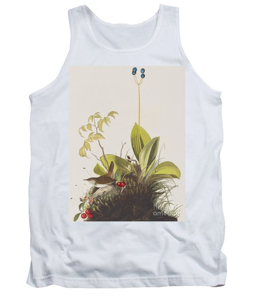 Wood Wren Tank Top by John James Audubon