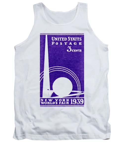1939 New York Worlds Fair Stamp Tank Top by Historic Image