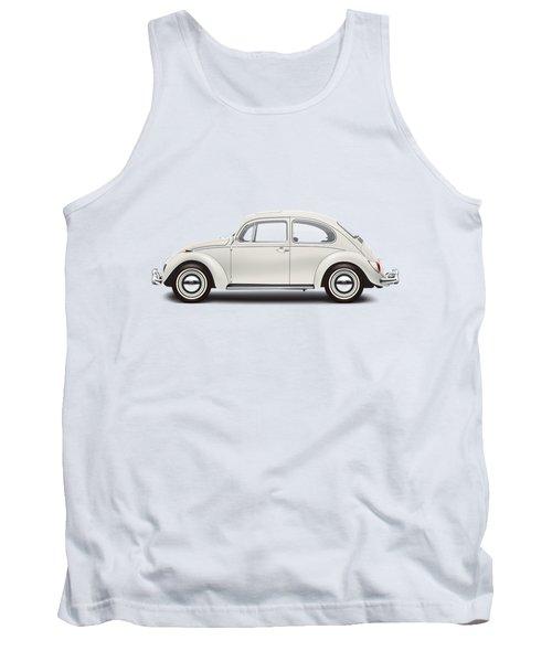 1966 Volkswagen 1300 Sedan - Pearl White Tank Top by Ed Jackson