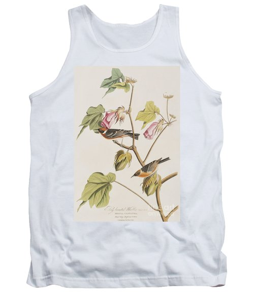 Bay Breasted Warbler Tank Top by John James Audubon