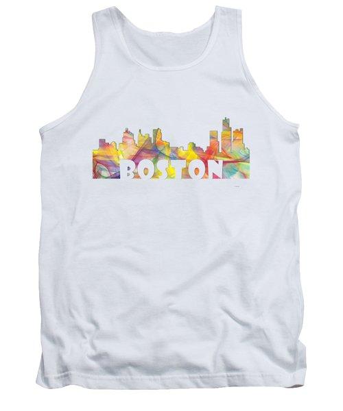 Boston Massachusetts Skyline Tank Top by Marlene Watson
