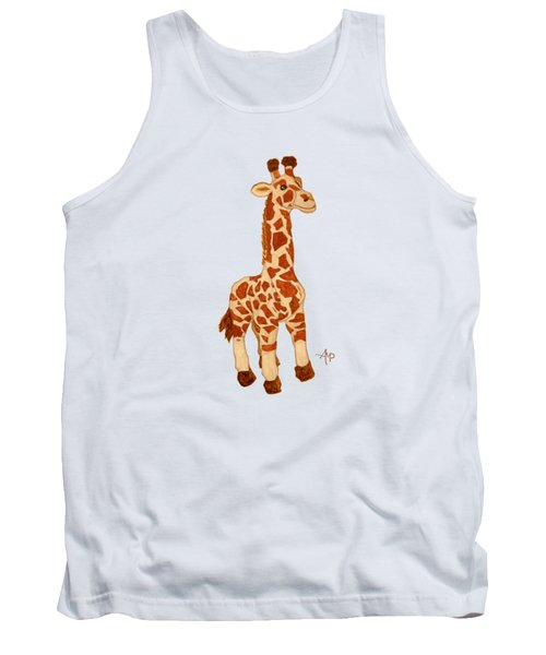Cuddly Giraffe Tank Top by Angeles M Pomata