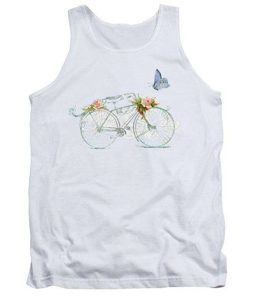 Summer At Cape May - Bicycle Tank Top by Audrey Jeanne Roberts