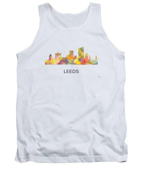 Leeds England Skyline Tank Top by Marlene Watson