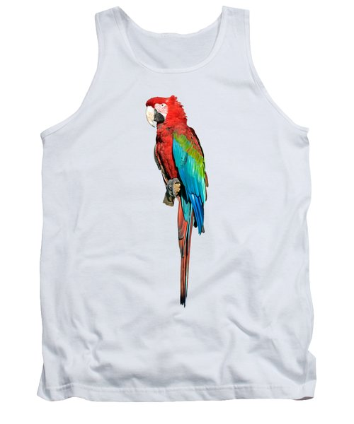 Red And Green Macaw Tank Top by George Atsametakis
