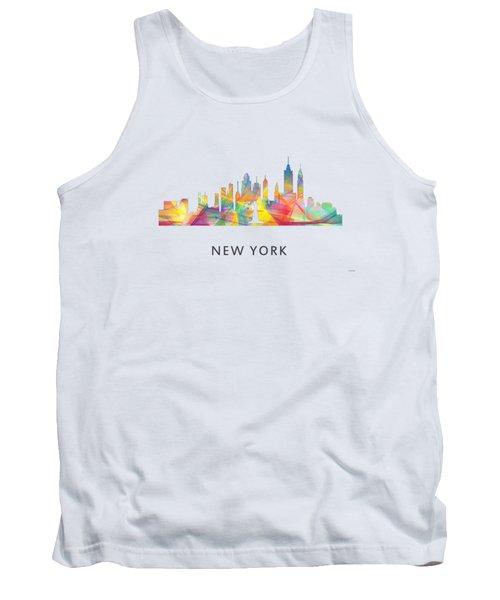 New York Skyline Tank Top by Marlene Watson