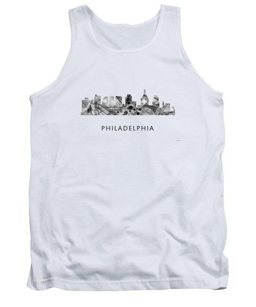 Philadelphia Pennsylvania Skyline Tank Top by Marlene Watson