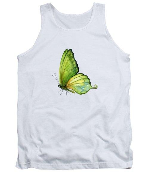 5 Sap Green Butterfly Tank Top by Amy Kirkpatrick