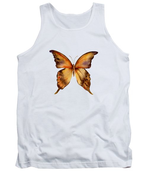 7 Yellow Gorgon Butterfly Tank Top by Amy Kirkpatrick