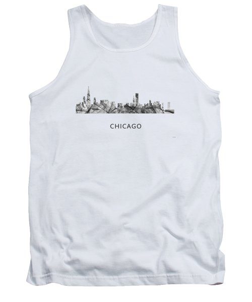 Chicago Illinois Skyline Tank Top by Marlene Watson