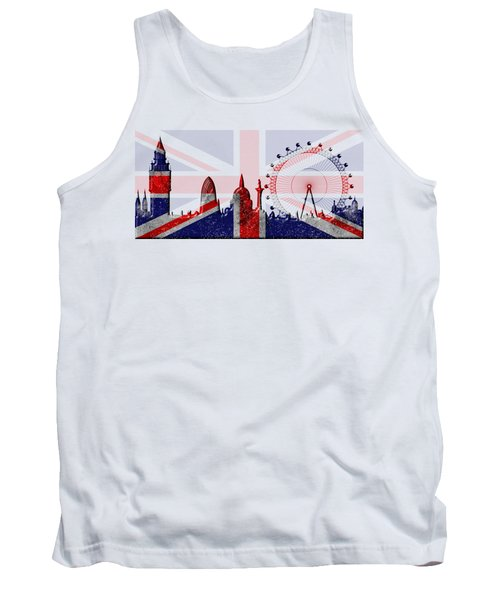 London Skyline Tank Top by Michal Boubin