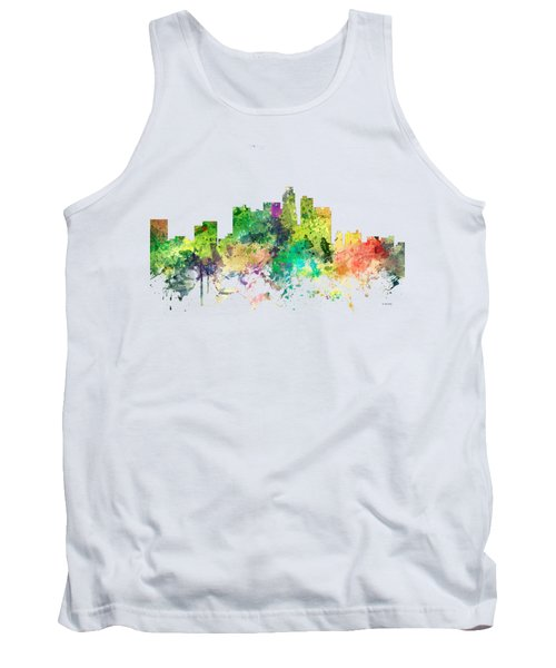 Los Angeles California Skyline Tank Top by Marlene Watson
