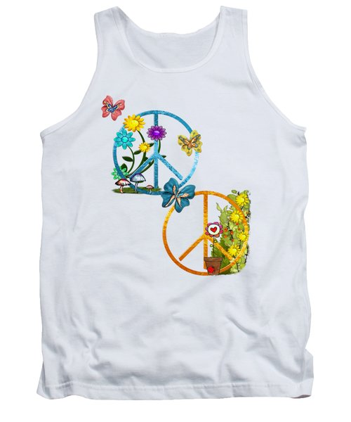 A Very Hippy Day Whimsical Fantasy Tank Top by Sharon and Renee Lozen