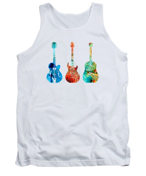 Abstract Guitars By Sharon Cummings Tank Top by Sharon Cummings