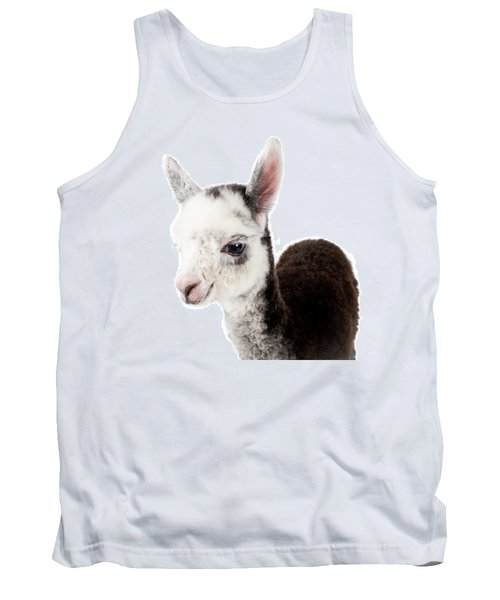 Adorable Baby Alpaca Cuteness Tank Top by TC Morgan