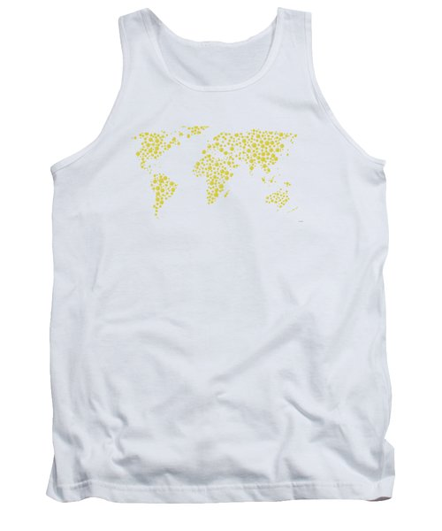 All The World Plays Tennis Tank Top by Marlene Watson
