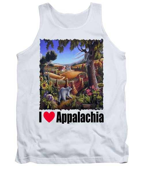 Amish Country - Coon Gap Holler Country Farm Landscape Tank Top by Walt Curlee