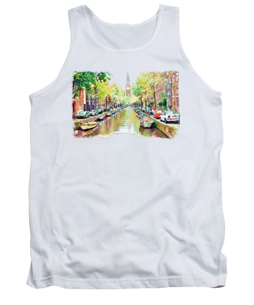 Amsterdam Canal 2 Tank Top by Marian Voicu